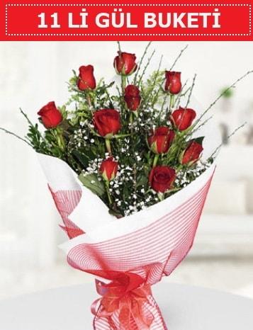11 adet kırmızı gül buketi Aşk budur  Bingöl Gölüm Çiçek çiçek gönderme sitemiz güvenlidir