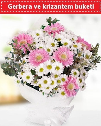 Papatya ve Gerbera Buketi  Bingöl Gölüm Çiçek çiçek , çiçekçi , çiçekçilik
