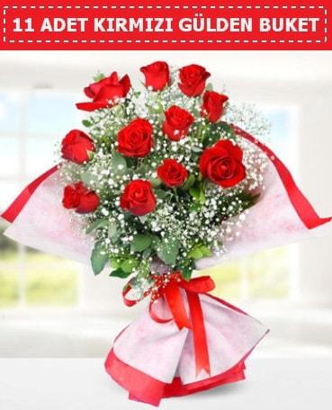11 Adet Kırmızı Gül Buketi  Bingöl Gölüm Çiçek internetten çiçek siparişi