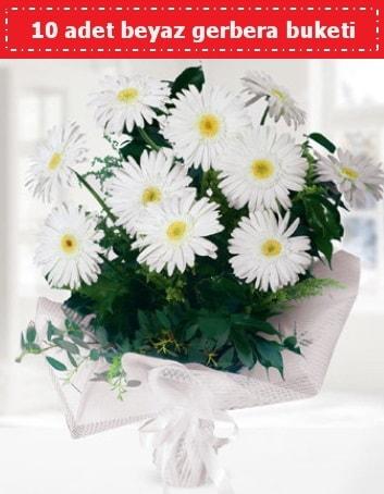 10 Adet beyaz gerbera buketi  Bingöl Gölüm Çiçek çiçek , çiçekçi , çiçekçilik