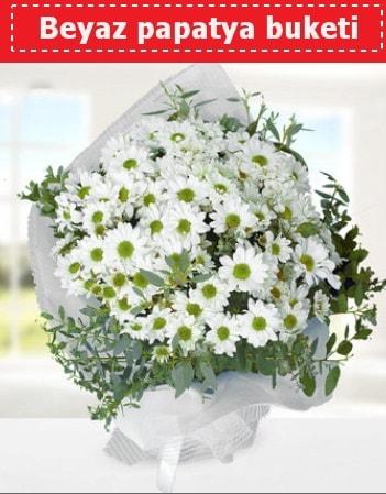 Beyaz Papatya Buketi  Bingöl Gölüm Çiçek 14 şubat sevgililer günü çiçek
